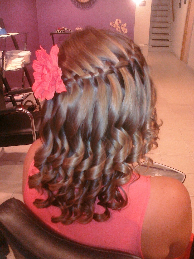 A better view of the waterfall braid!!: Waterfalls Braids, Waterf Braids, Waterfall Braids
