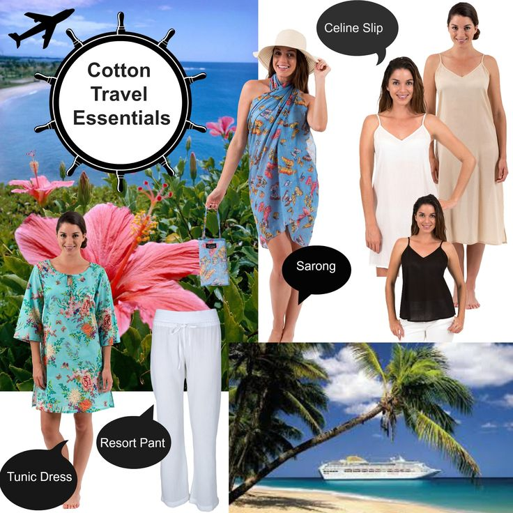 Cool, light, easy to wear cotton travel essentials  For customers travelling all year round there is nothing like cotton to keep you cool in the heat…