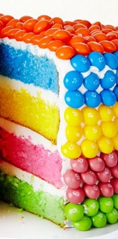 Rainbow Layer Cake Recipe
