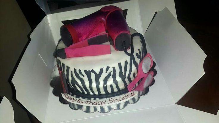 Hairdresser inspired cake