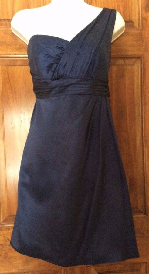 f5ebfcac461bc Melissa Sweet Bridesmaid Cocktail Prom Dress Midnight Blue size 10 one  shoulder#Cocktail#Prom#Bridesmaid