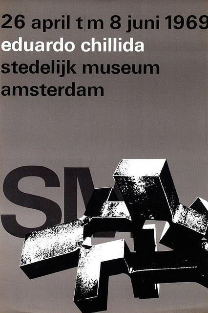 """""""eduardo chillida"""" Exhibition Poster, , Design Wim Crouwel, 1969"""