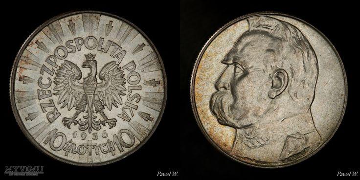 1936 10 zł Piłsudski w Monety (Polska, destrukty, patyna, warianty, inne ciekawe) - kustosz PawelW w MyViMu.com