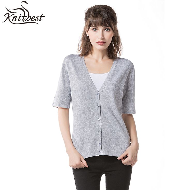 Knitbest'' 2017 Women Casual Cardigans All-match Spring Summer Cardigans  V-Neck