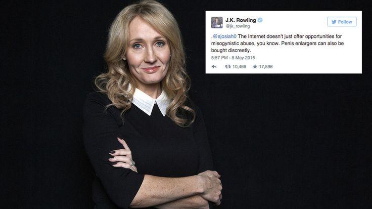 A collection of 'Harry Potter' author J.K. Rowling's best comebacks, takedowns and jokes on Twitter. #weloverher #buzzlymedia #socialmedia www.buzzlymedia.com