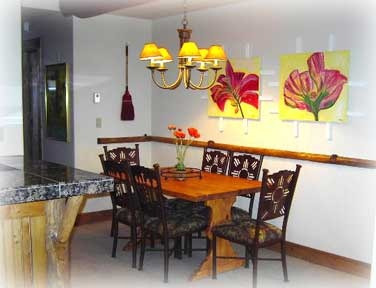 Jims 3BR/3BA Black Bear Condo Dining Room In Crested Butte, CO; Visit