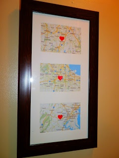 "DYI: ""Home is where the heart is"" map."