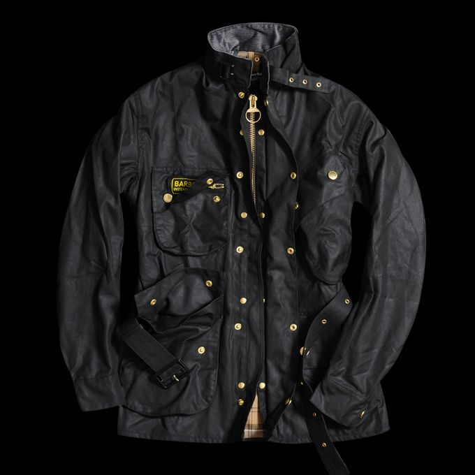 BARBOUR  INTERNATIONAL JACKET IN BLACK $449.00