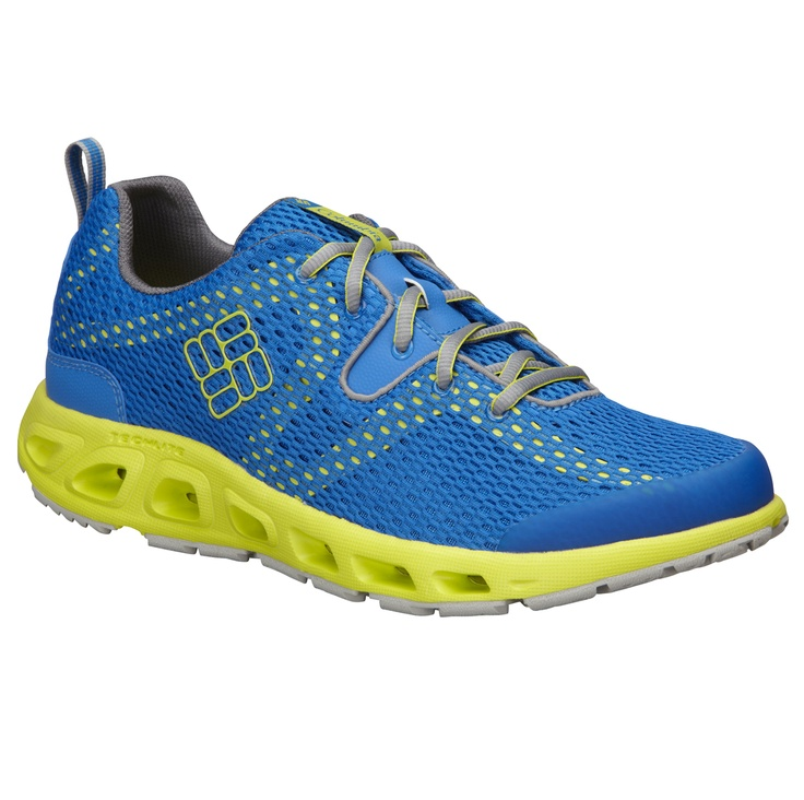 Columbia Drainmaker Hyper Blue Shoes with numerous drainage port, high  traction wet rubber grip,