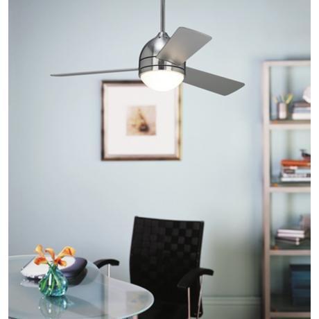 "Stay Cool - 44"" Casa Vieja® Trifecta Brushed Nickel Ceiling Fan | dD"