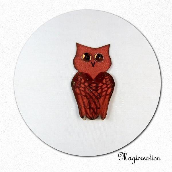 MAGNET HIBOU SOIE JOSEPHINE - Boutique www.magicreation.fr