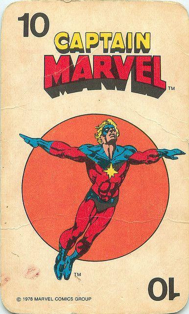 Marvel Comics Superheroes Card Game   Captain Marvel