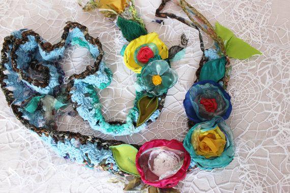 Gypsy Scarf Boho Scarf Gypsy Crochet Scarf Hippie Scarf