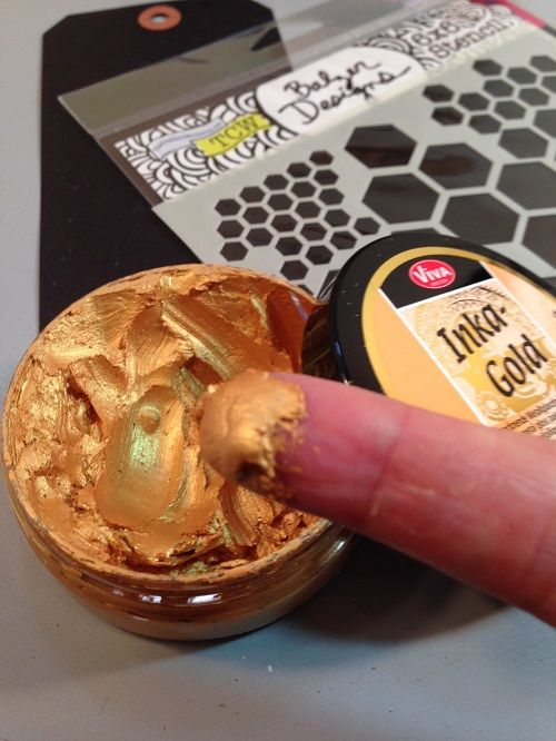Inka Gold: Inka Gold is a beeswax medium with vibrant shimmer that comes in a rainbow of colours, and I've used it so many different ways.