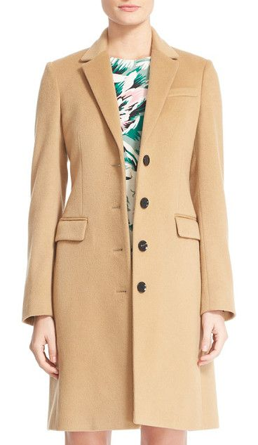 sidlesham wool & cashmere coat by Burberry. Timelessly appealing in a fitted silhouette, a notch-collar coat is tailored in an exquisite wool-and-cashmere blend ...