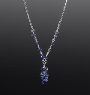 Lapis Lazuli Silver Necklace by Coco Paniora Salinas