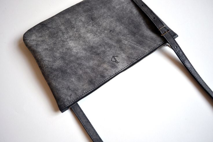Shoulder bag, concrete grey. By Atelier judith van den Berg