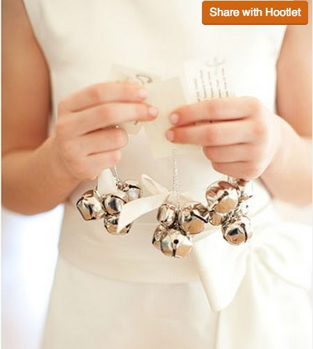 Jingle Bells, wedding favors, Christmas wedding exit, DIY