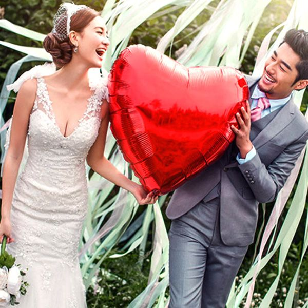 Buy 36 Inch Aluminum Foil Heart Balloon Wedding Party Proposal Love Balloons Decorationfor R55.76