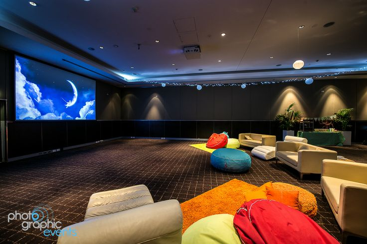 Pull up a bean bag and get comfy for a movie night in our Semillon Room