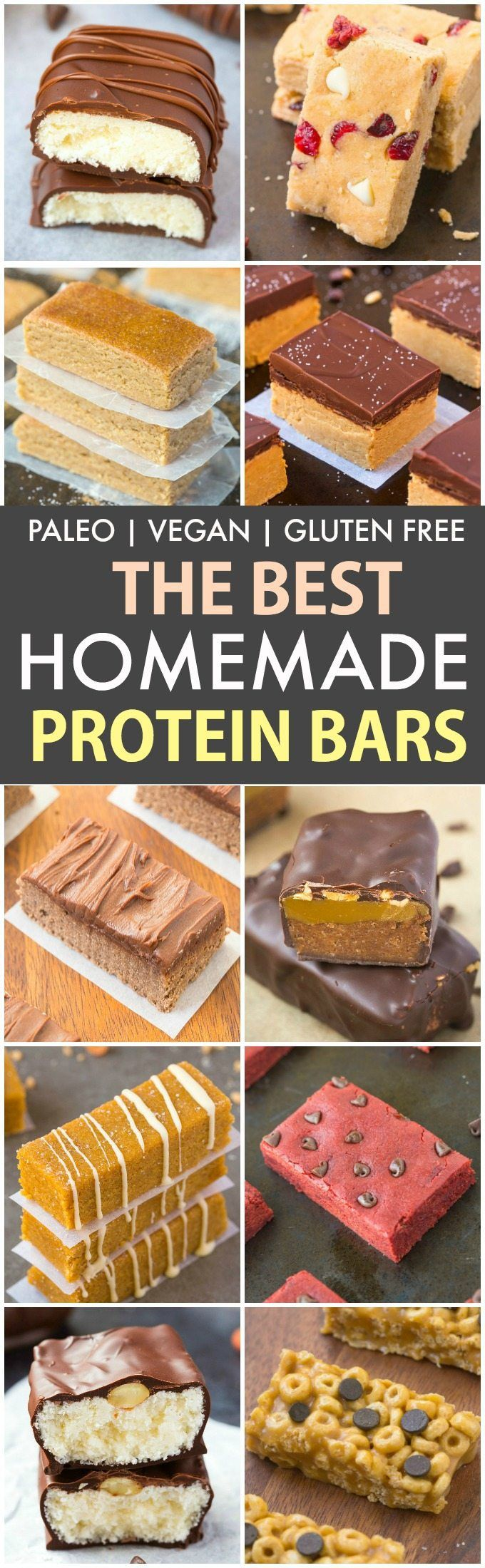 The Best Healthy Homemade Protein Bar Recipes (P, V, GF, DF)- Easy, quick and delicious homemade protein bar recipes which take minutes to make- A portable low carb and low sugar snack! {vegan, gluten free, paleo}- thebigmansworld.com #proteinbar #nobake #backtoschool