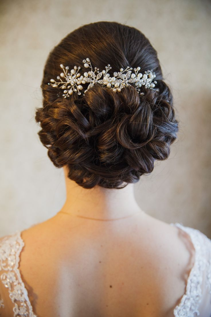 Bridal Hair (up do) and make up for wedding - look by Elstile (elstile.com)