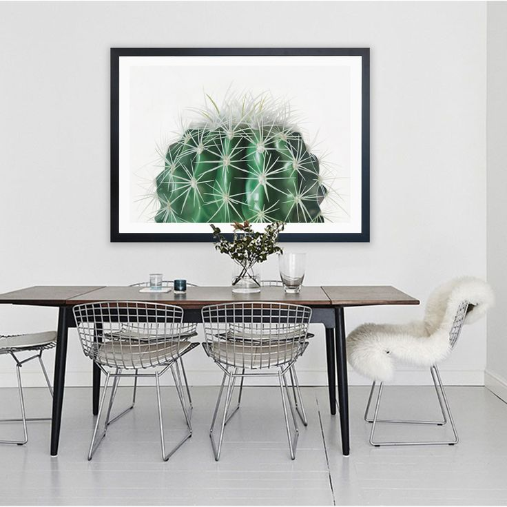 Featuring a striking green cacti plant set against a white background, this art print was originally hand painted by our in-house artist team, and now available as a reproduction giclée art print (archival using pigment inks), unframed or framed. Size & frame colour options available. We ship worldwide. #ThePrintEmporium #botanical #cacti #art #canvas #print #greenery #wallart #cactus  www.theprintemporium.com.au