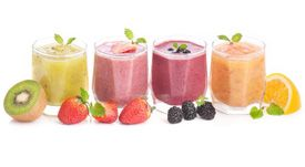 nonalcoholic-drinks- fruit smoothies. Set up a smoothie bar and let guests choose their own fruits
