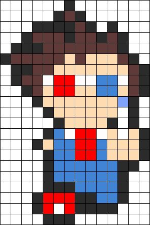 An insanely large collection of Perler Bead/cross stitch patterns - Kandispatterns.com.  Did I say LARGE?  Yes I did :)  Doctor Who Tenth Doctor Perler Perler Bead Pattern / Bead Sprite