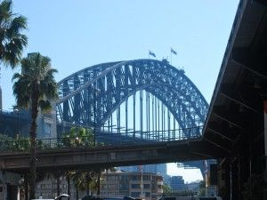 The Sydney Harbour Bridge from the Overseas Passenger Terrminal at The Rocks. A walk around the Rocks anytime of the day or night is always enjoyable!!!!