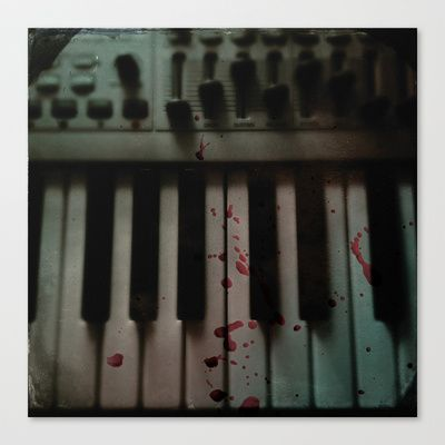 Music.Death.Analog Stretched Canvas by WASA3I - $85.00