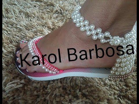 Sandalia de perolas.. by Karol Barbosa - YouTube