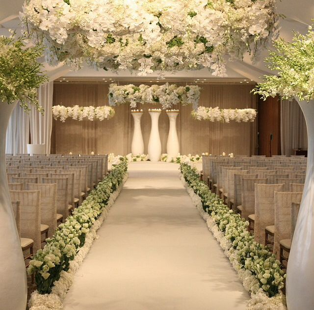 Wedding Aisle Flowers: 17 Best Images About Ceremony Spaces