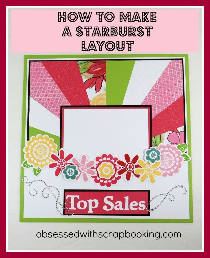 Cricut, Close to My Heart, Art Philosophy, Girls Rock, Brushed, starburst layout, layout, how to, video