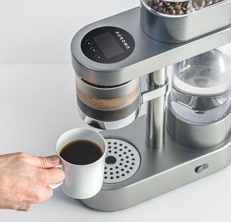 Auroma One is a single serve coffee machine. You control how your coffee tastes; experiment with it to brew coffee according to the tastes of friends and family. #RedDot #design-concept #ready-to-launch #prototype #online-exhibition