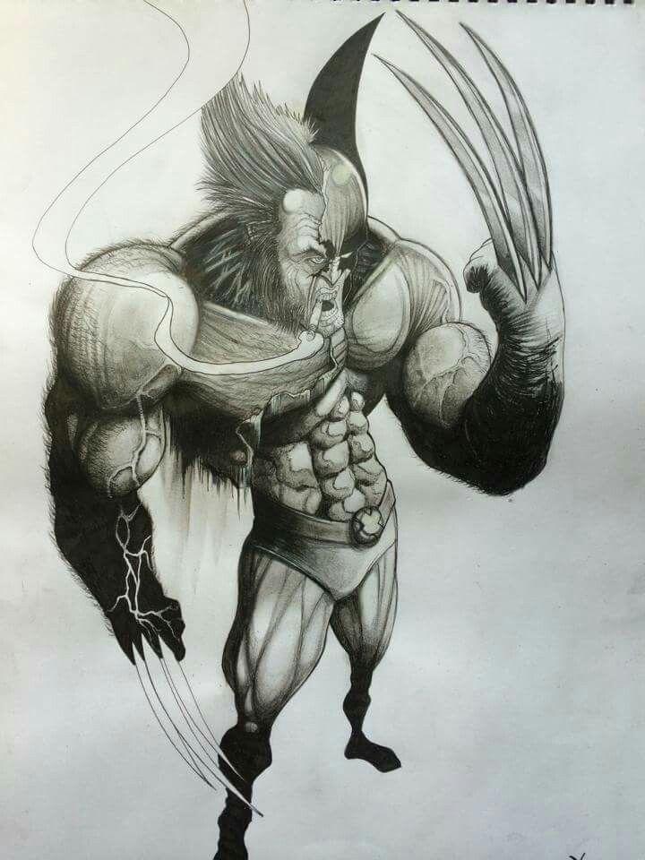 #Wolverine drawing #art #pencils #Marvel
