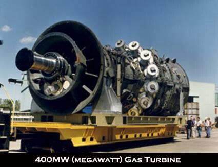 Gas Turbine, this is the kinda thing my husband builds. Millwright union worker.