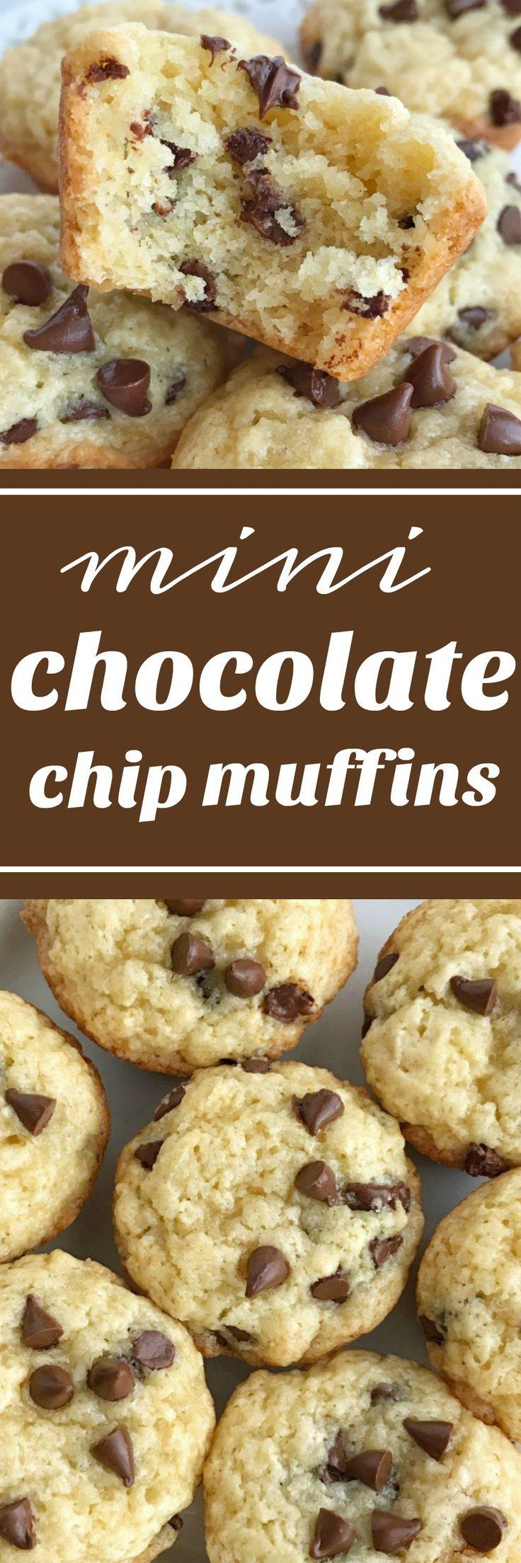 Muffins | Chocolate | Snack recipes | Mini muffins | Chocolate Chip Muffins | www.togetherasfamily.com #muffinrecipes #chocolate #minimuffins #chocolatechipmuffins