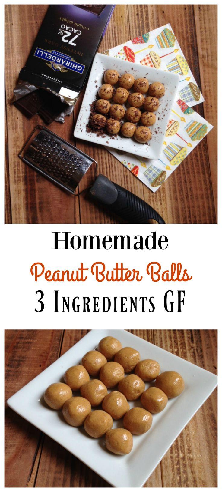 Homemade GF Peanut Butter Balls #peanutbutter                                                                                                                                                                                 More