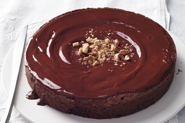 Σοκολατόπιτα+με+καρύδια+χωρίς+αλεύρι