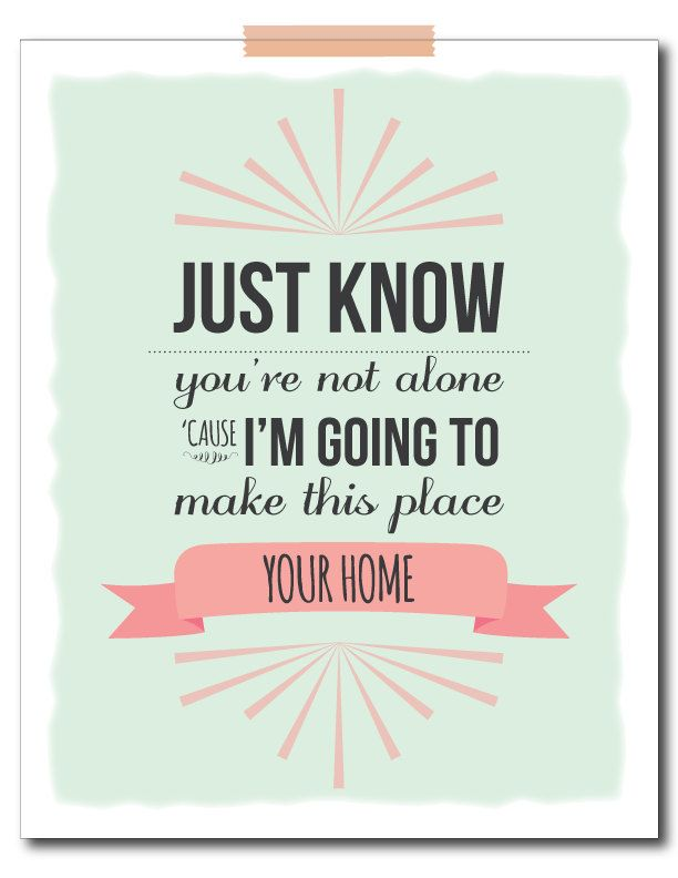 """Phillip Phillips """"home"""" Sign Print for Nursery. Am I the only one who hears the commercial when I read this?"""
