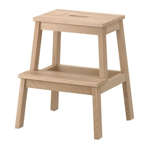 IKEA BEKVÄM Step stool Birch 50 cm Solid wood is a hardwearing natural material.