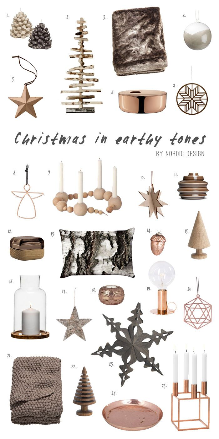 Christmas in Earthy Tones with Copper Accents - NordicDesign