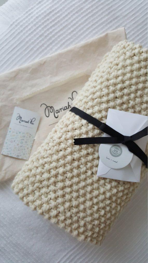 Alpaca Wool Baby Blanket :  Manta de Bebé de lana de Alpaca