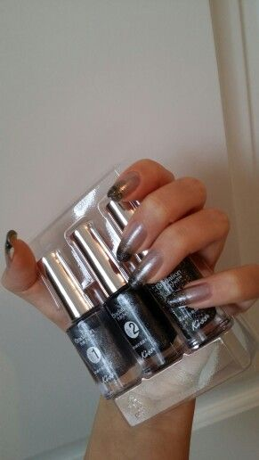 Homemade ombre nails