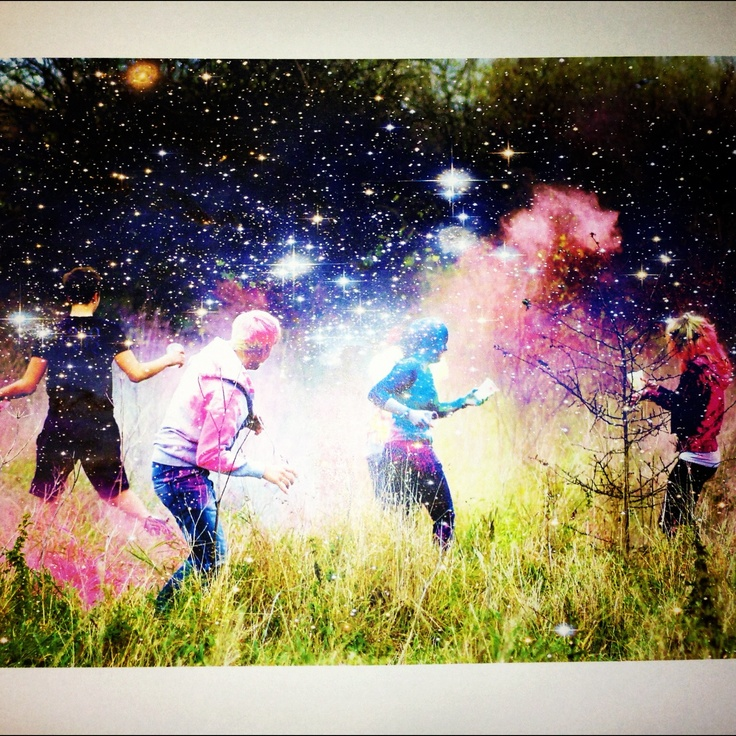 Powder Paint Fight with friends!!!!