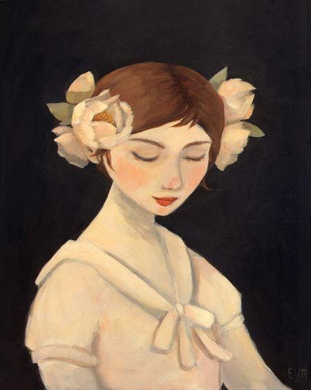 Inside A Black Apple: Illustration, Emily Martin, Winfield Martin, Emily Winfield, Flower Girls, Peonies