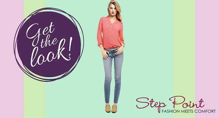 Express Spring Look!!! Τζινάκι, πουκαμισάκι και μοκασίνια Camille!!! Βρείτε τα εδώ <3 http://www.step-point.gr/mokasinia-camille.html