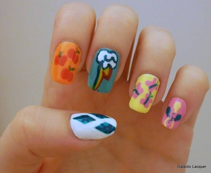 57 best Mlp nail art images on Pinterest   Ponies, Pony and Fluttershy