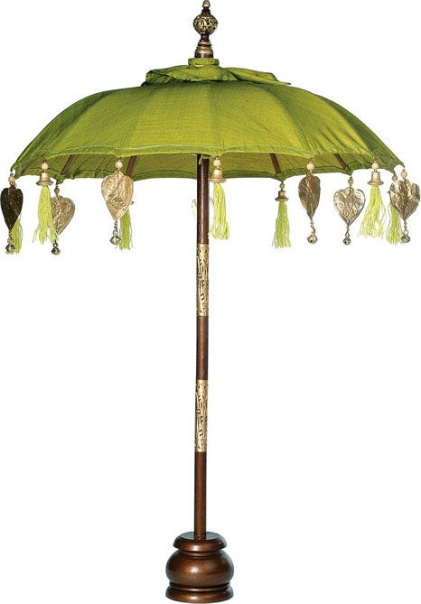 Chartreuse Green Balinese Festival Parasol